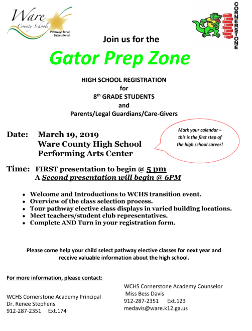 Gator Prep Zone for 8th grade