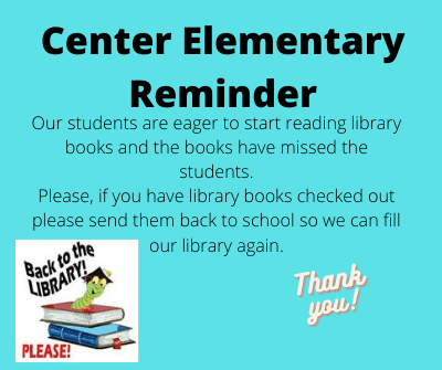 Center Reminder Library Books Due