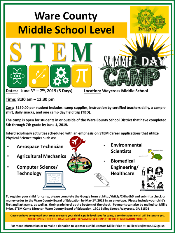STEM Camp Middle School Flyer