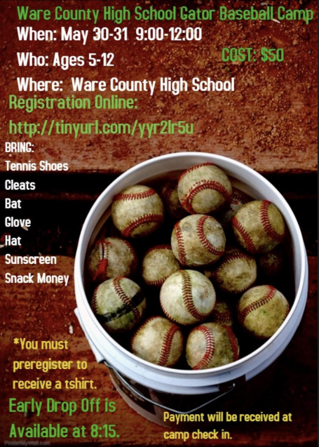 Baseball Camp flyer