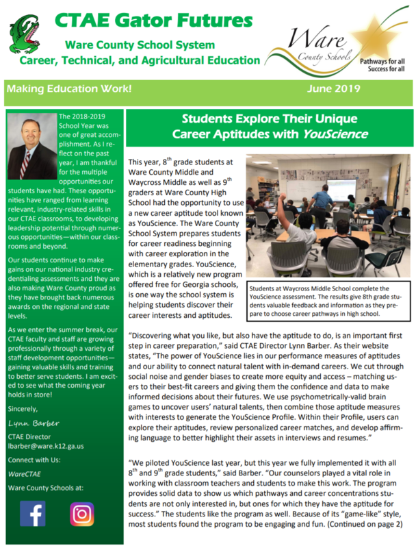 June 2019 CTAE Gator Futures Newsletter